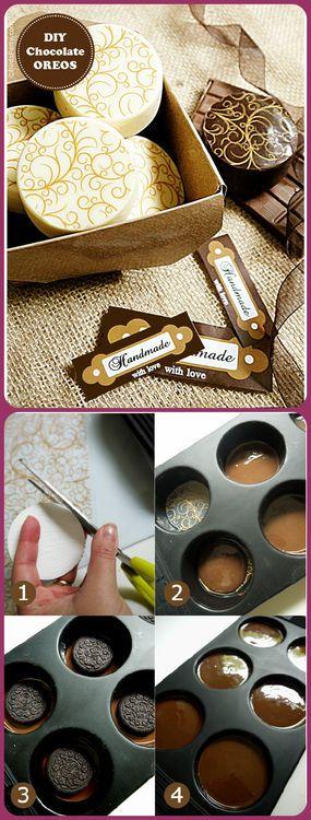 DIY Chocolate Oreos Easy...this is bitchen and yes way way way more addicting than regular Oreos :)