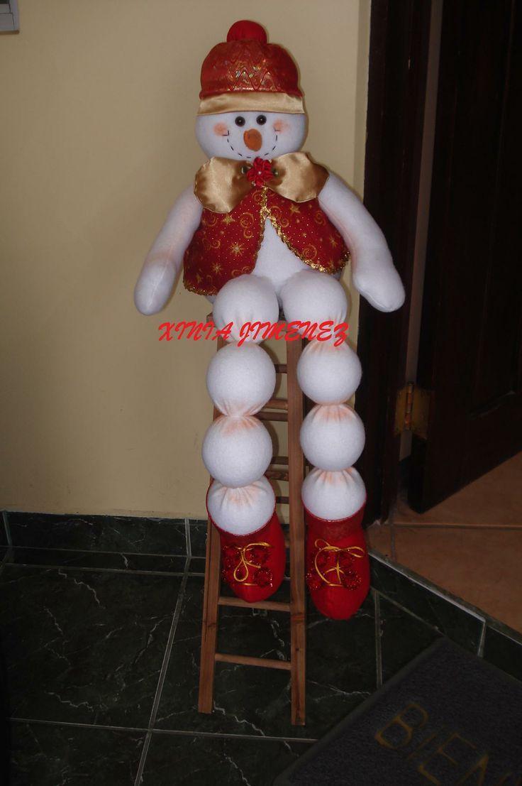 ideas-para-decoracion-con-monos-de-nieve-de-fieltro (12) | Curso de organizacion de hogar aprenda a ser organizado en poco tiempo