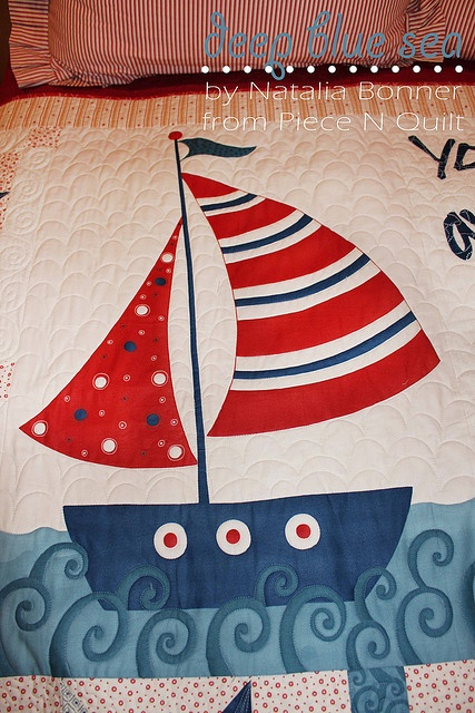 Loving the waves on this nautical quilt