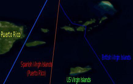 Die politische Aufteilung der Jungferninseln in (von links nach rechts) Spanische Jungferninseln, Amerikanische Jungferninseln und Britische Jungferninseln ◆Amerikanische Jungferninseln – Wikipedia http://de.wikipedia.org/wiki/Amerikanische_Jungferninseln #US_Virgin_Islands