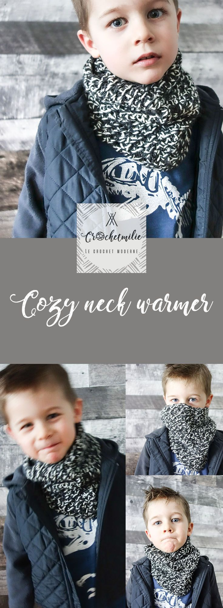 Cozy neck warmer for all family by CROCHETMILIE / Chaud cache-cou pour toute la famille winter style, warm and cozy, for boys, for girls, for women and men