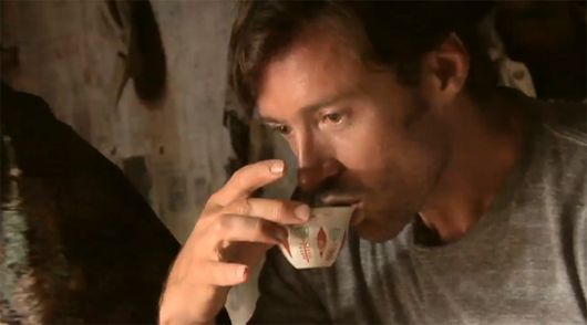 Hugh Jackman's coffee and tea company, Laughing Man. All proceeds go to charity. Go Wolverine!