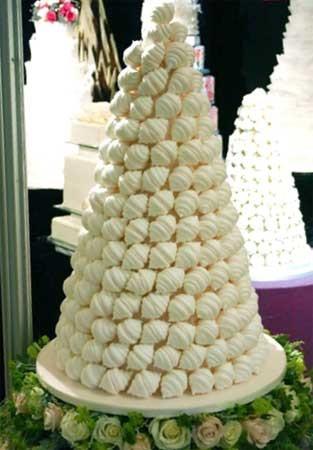 Non-cake wedding cakes, meringue croquembouche