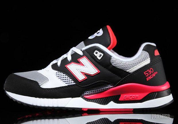 New Balance 530 - Black - Hot Red - Grey - SneakerNews.com