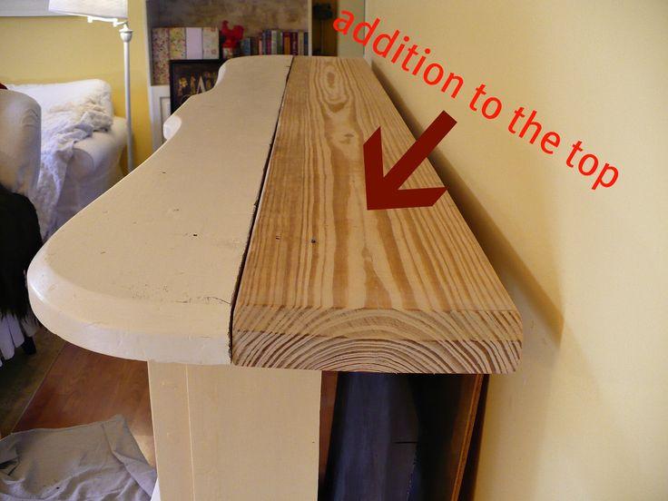 free standing fireplace mantel addition