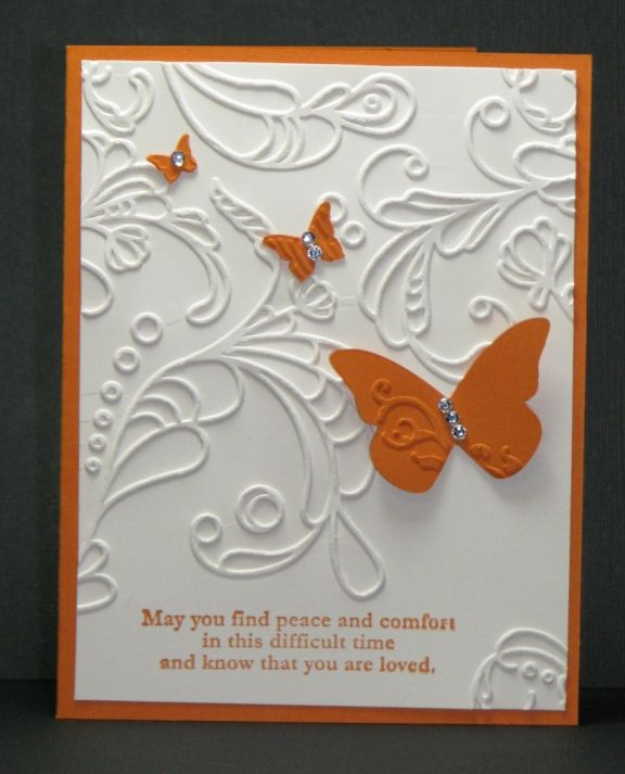 A simple card using pumpkin pie and very vanilla. Would work great with many color combos.