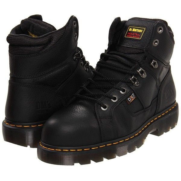 Dr. Martens Work Ironbridge - Internal MetGuard Men's Work Boots ($155) ❤ liked on Polyvore featuring men's fashion, men's shoes, men's boots, men's work boots, mens leather work boots, mens leather boots, mens caps, mens platform boots and mens boots