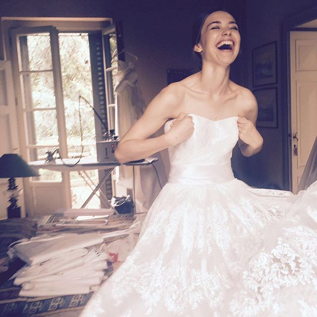 Backstage. Giuseppe Papini 2017 bridal collection shooting in progress