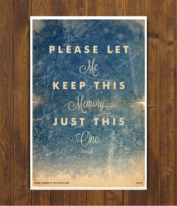 Eternal Sunshine of the Spotless Mind Movie Poster - Vintage Style Magazine Retro Print Cinema Studio