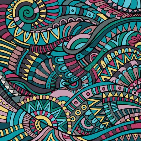 Dekorative gr�ne Zier ethnische Vektor Muster Hintergrund photo