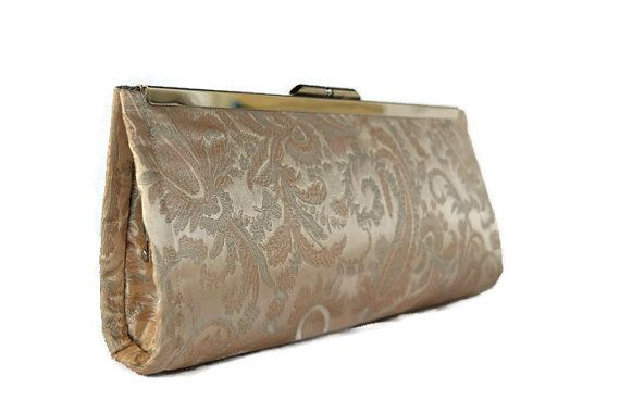Check out this item in my Etsy shop https://www.etsy.com/listing/207746864/blush-champagne-paisley-wedding-clutch