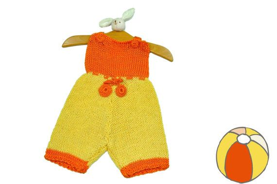 Knitted Born Baby Suit Unisex by miCalorKnits on Etsy