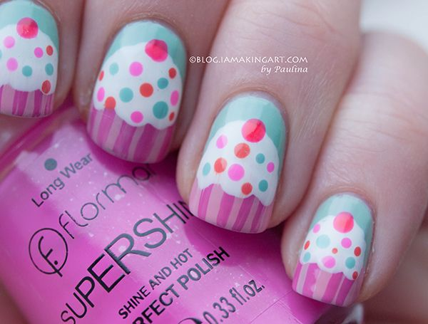 i am showcasing awesome happy bday cake nail art designs ideas of 2014 for girls - Little Girl Nail Design Ideas