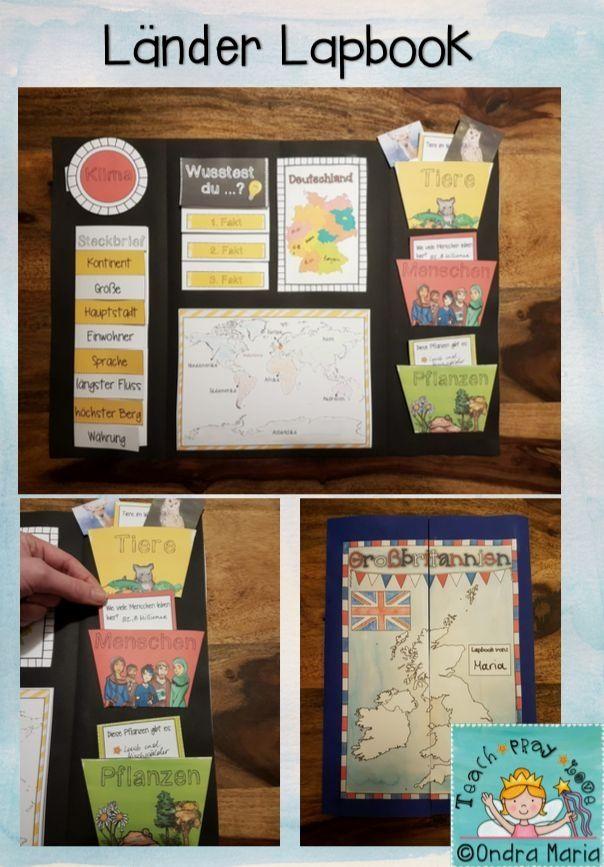 Lehrermarktplatz Delapbook Länder Verwendbar Für Alle Länder Lap Book Foldables Creativos Ideas De Colegio