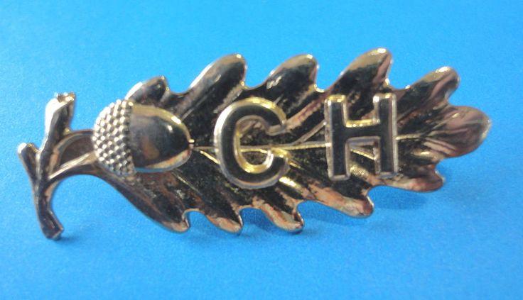 """WW2 Calgary Highlanders Collar Badge, Oak Leaf Marked """"Birks"""""""