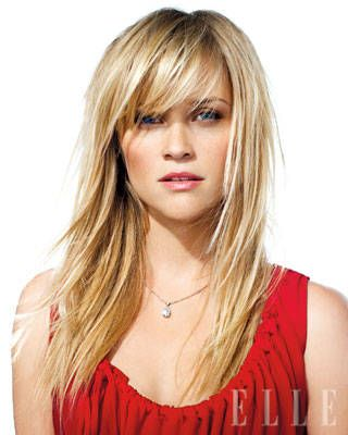 Reese Witherspoon bangs.  Just got these done and love them!!!  So versatile