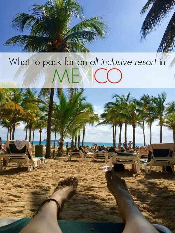 Travel: What To Pack For An All Inclusive Vacation? Packing guide + details! The ultimate packing guide to a vacation or honeymoon in Mexico. What to pack for Mexico? Questions answered!