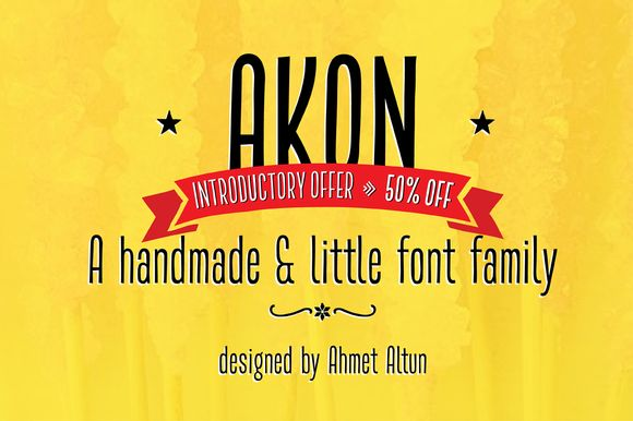 Check out Akon Font Family-50%OFF by aatype on Creative Market