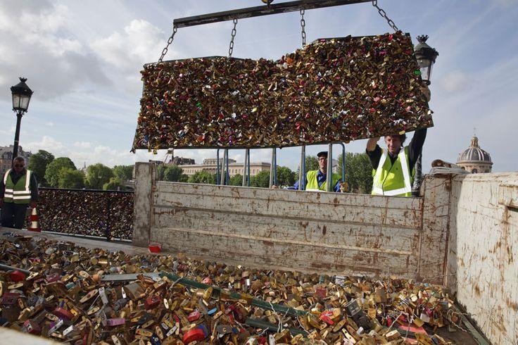 Pont des Arts: Paris knackt eine Million Liebesschlösser - TRAVELBOOK.de