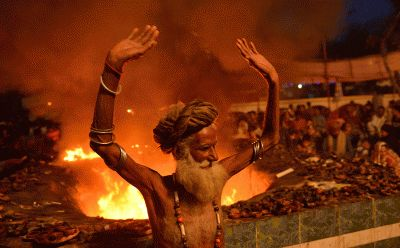 The most colourful and spectacular festivals of 2016:       Mela Chiraghan:   A Pakistani Muslim devotee dances around a fire at the shrine of Sufi saint Hazrat Shah Hussain, popularly known as Madhu Lal Hussain, during annual festival Mela Chiraghan (the festival of lights) in Lahore on 26 March 2016, which marks the death anniversary of Sufi saint Hazrat Shah Hussain.   Arif Ali/AFP