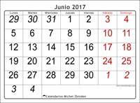 Calendario junio 2017, Oseus