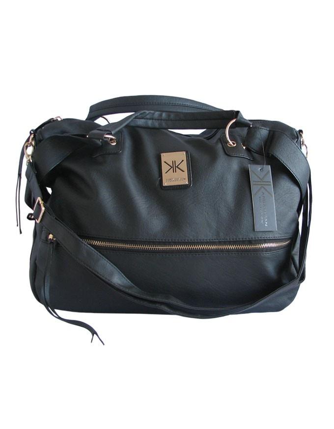 Black Zip Bag by Kardashian Kollection | Bombo Clothing Co.  $99.95