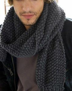 receita de tricô para cachecol masculino