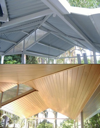 Glosswood timber ceiling panels