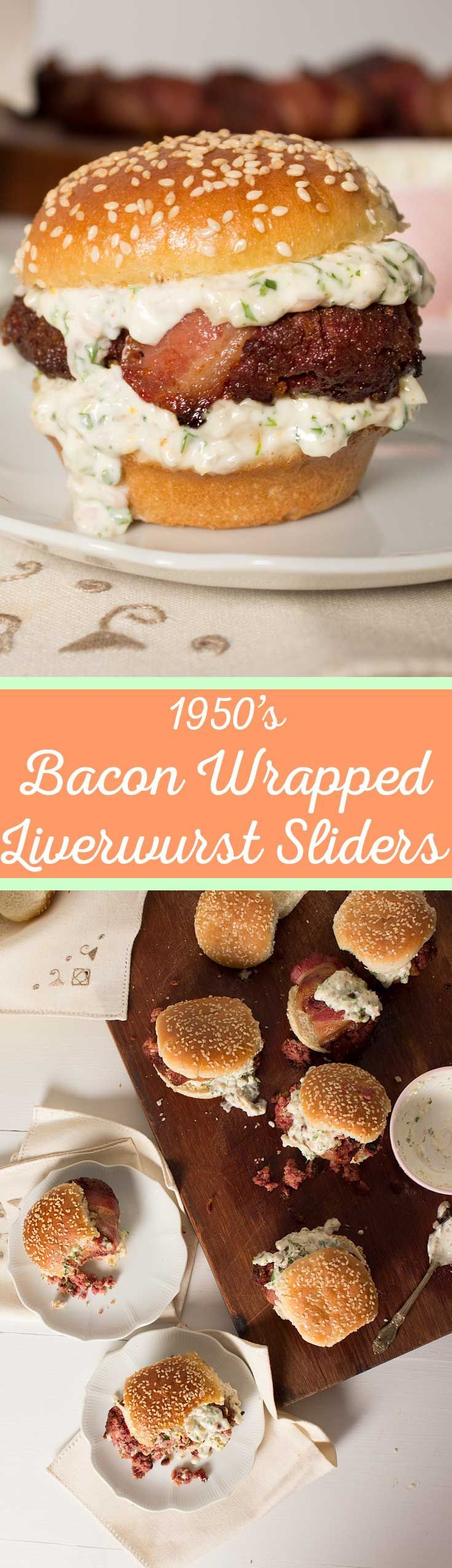 Epic Bacon Wrapped Liverwurst Sliders
