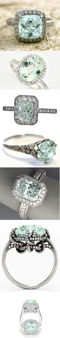 I want to give them all a loving home!Mint Green, Aquamarines Rings, Aquamarine Rings, Vintage Rings, Gorgeous Ring, Mint Diamond, Wedding Rings, Silver Rings, Engagement Rings