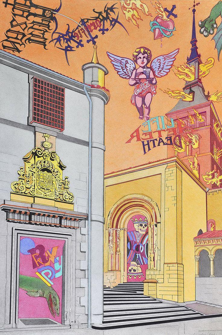 """""""Cultura e Iglesia"""", es una encrucijada diaria en mi devenir por la ciudad de Segovia. A la derecha una de las iglesias emblemáticas del románico segoviano, y a su izquierda la Cárcel Real, hoy Biblioteca, donde acudo diariamente."""