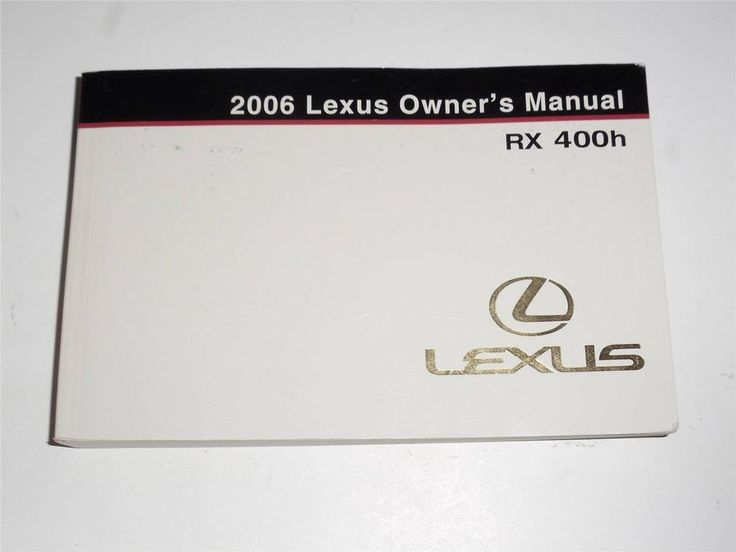 2006 Lexus RX 400h Owners Manual Book
