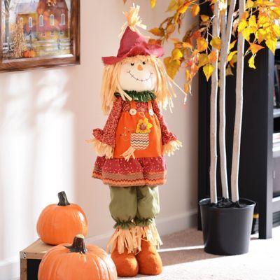 Plush Scarecrow Girl Statue   Kirklands