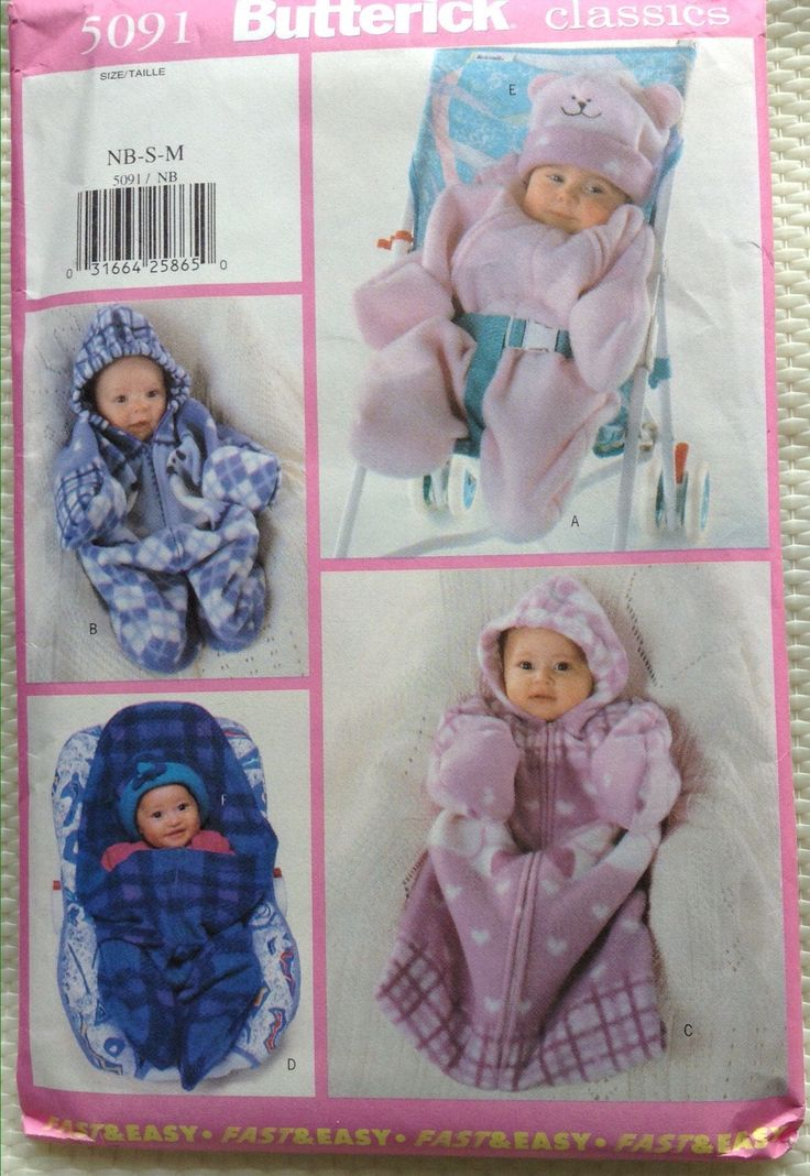 Classic Baby bunting and hat Butterick pattern by Followlight on Etsy