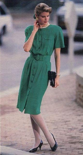 80s green dress