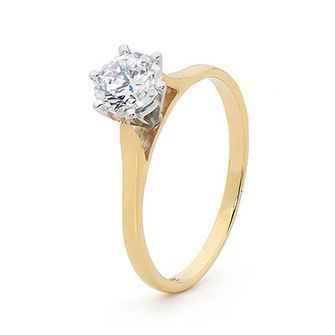 One Carat Cubic Zirconia - Engagement Ring Style - BEE-23464-CZ
