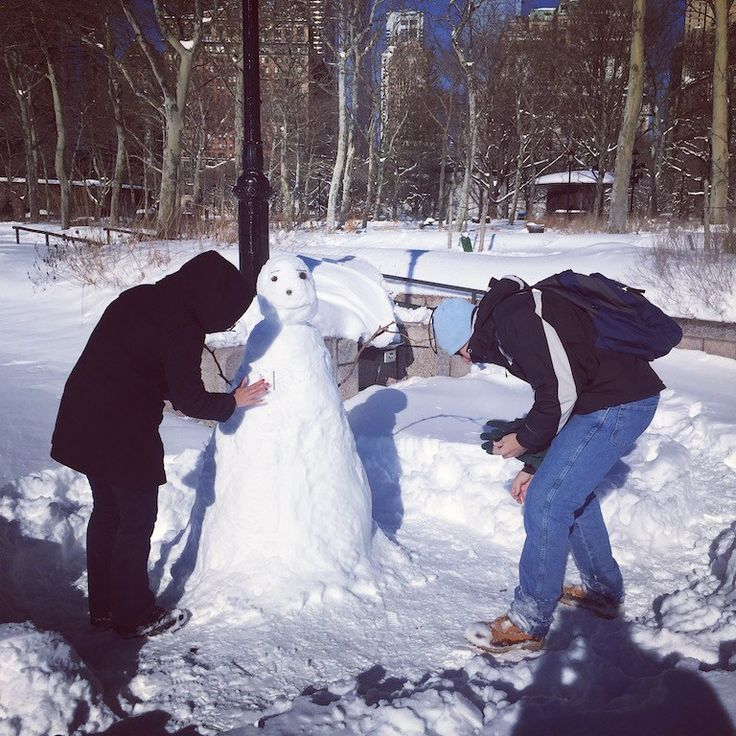 The day we could build a snowman in Battery Park