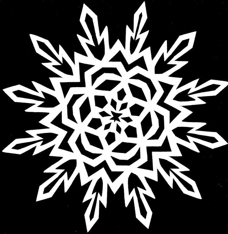 Paper Snowflake CUTTING PATTERN 14 by *whitneylunt on deviantART