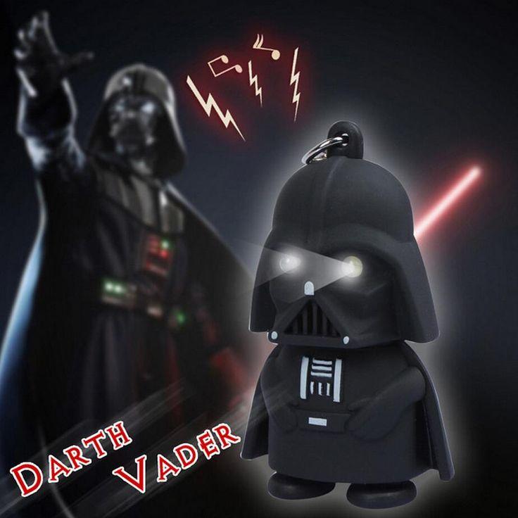 Free Shipping LED Darth Vader star war action figure yoda Anakin Skywalker figure keychains 2016