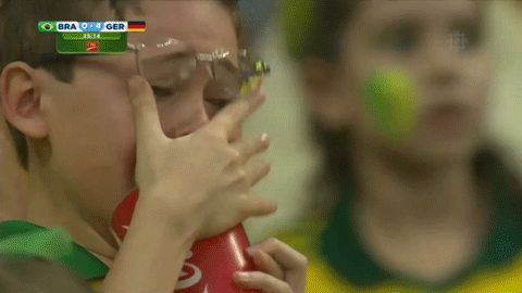 Brazilian kid collects his tears for thirsty Germans.