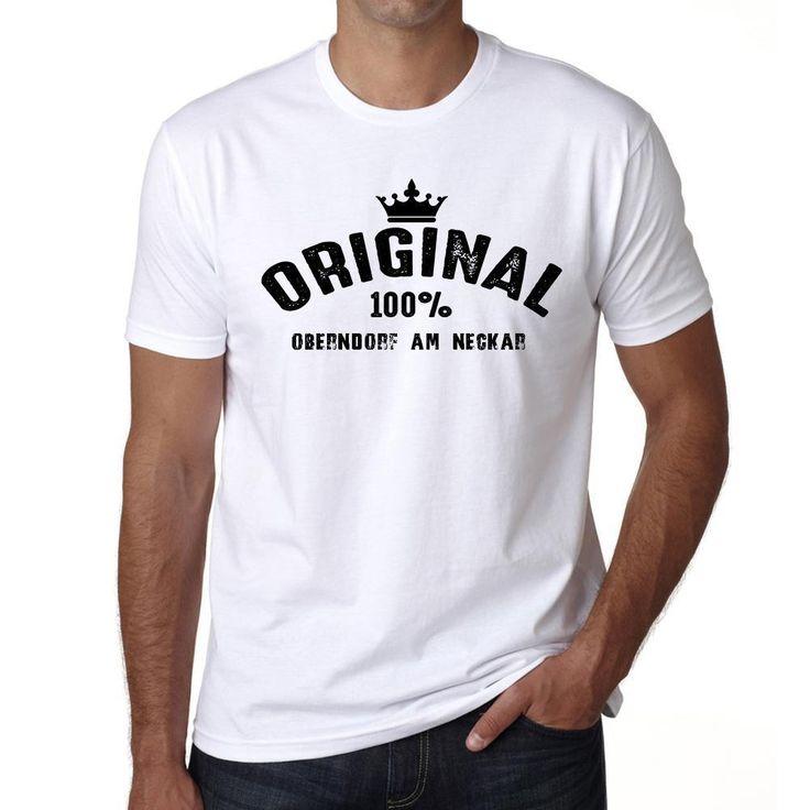 oberndorf am neckar, 100% German city white, Men's Short Sleeve Rounded Neck T-shirt