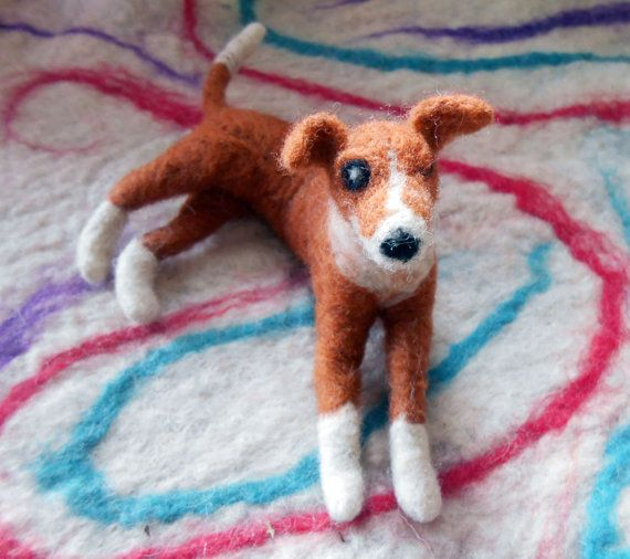 Made-to-order Custom Needle Felted Dog soft sculpture by Moninos