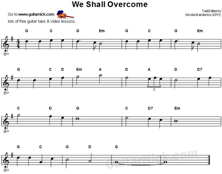 we shall overcome easy guitar sheet music zene guitar sheet music easy guitar guitar sheet. Black Bedroom Furniture Sets. Home Design Ideas