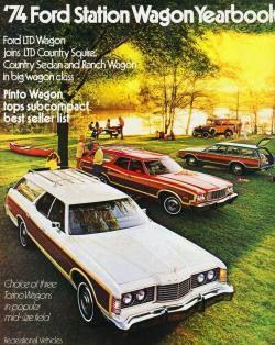"frenchcurious: "" Publicité Ford Station Wagon 1974 - Collectible Automobile Magazine. """