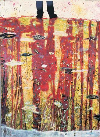 Peter Doig, Cobourg 3+1 more, 1994 Oil on Canvas, 200 x 250 cm