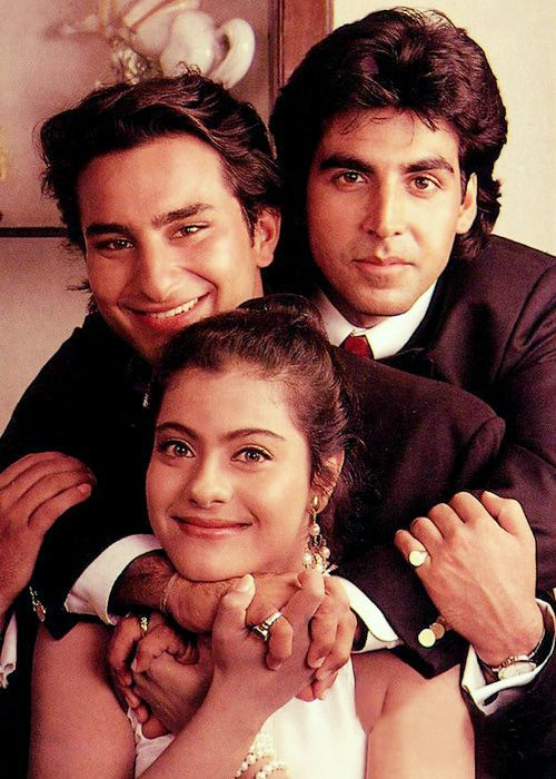Kajol, Saif Ali Khan and Akhay Kumar. How cuteee