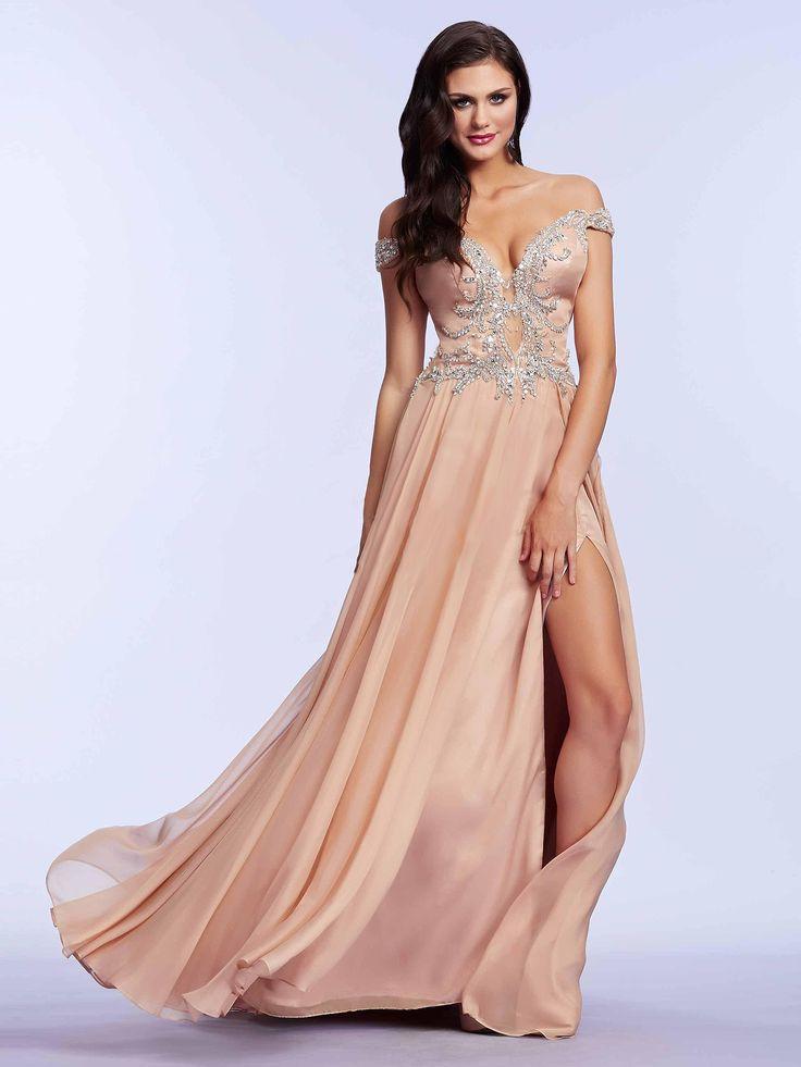 #new #nude #dress / Zwiewna suknia wieczorowa w modnym, cielistym kolorze