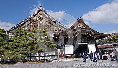 Palácio de Ninomaru no castelo de Nijo Foto Editorial