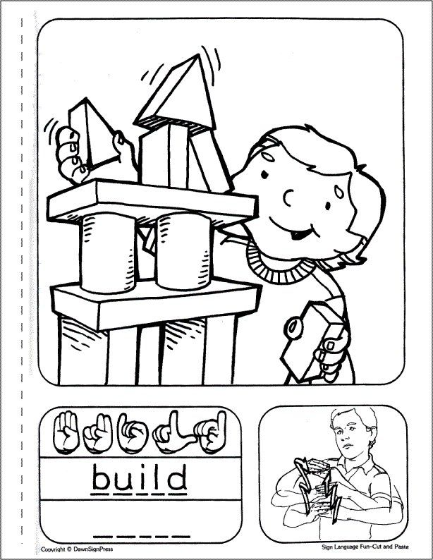 sign language coloring pages to print farm sign language printables coloring pages