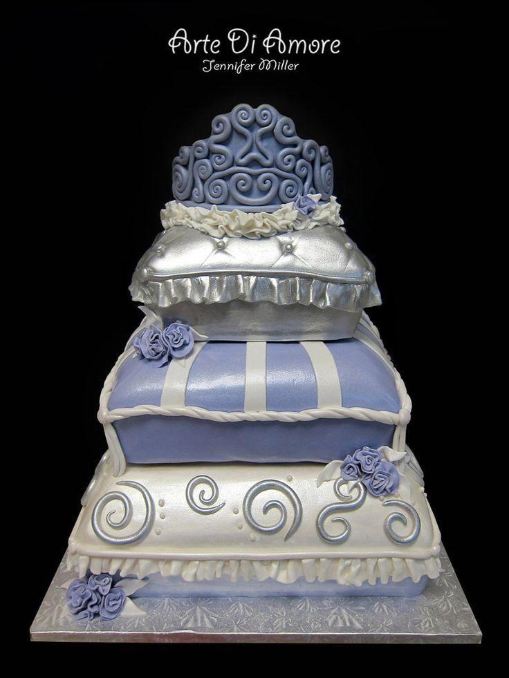 pillow wedding cakes   Pillow Cake by ArteDiAmore on deviantART